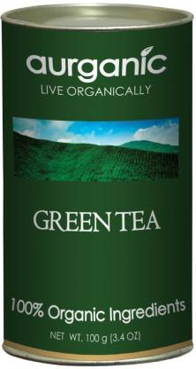 Aurganic Long Leaf - 100% Organic (100 Gm) Unflavoured Green Tea Can