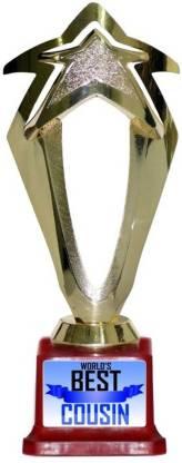 Box 18 WORLDS BEST COUSIN Trophy