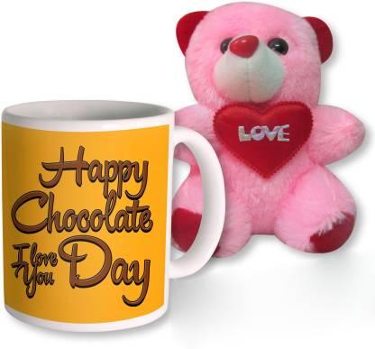 PhotogiftsIndia Mug, Soft Toy Gift Set