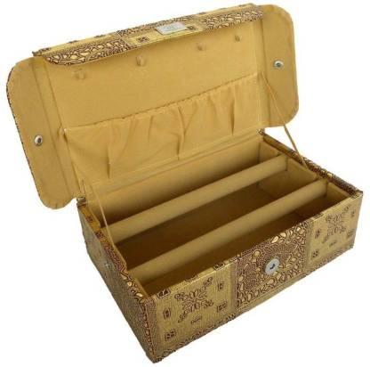 Ermani Export 2 Row Gold Bangle Box Makeup Vanity Box