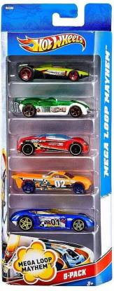 Hot Wheels Five-Car Assortment Pack  (Multicolor)