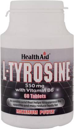 HealthAid L-Tyrosine 550mg (With Vitamin B6)
