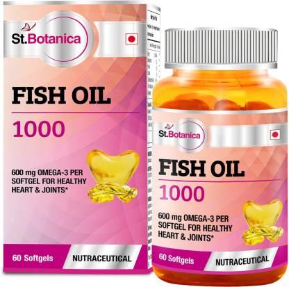 St.Botanica Fish Oil 1000 mg (Double Strength) 600mg Omega 3