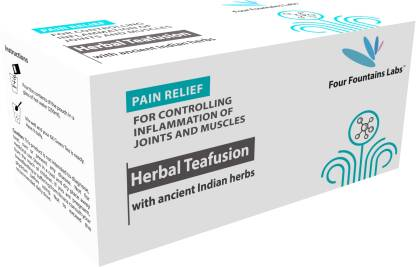 Four Fountains Labs Herbal Teafusion - containing Boswellia Serrata and Ginseng for Pain Relief and reducing Inflammation (1 Month Supply)