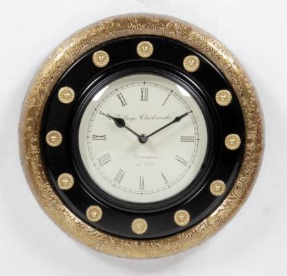 Home and Bazaar Analog 30 cm X 30 cm Wall Clock