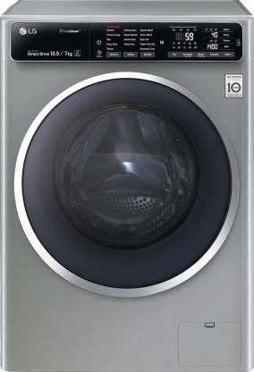 LG 10.5/7 kg Washer with Dryer with In-built Heater Silver