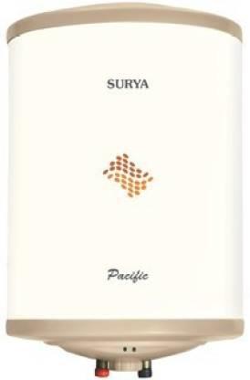 SURYA 15 L Storage Water Geyser (Pacific 15, White)