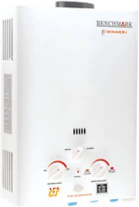 Benchmark 6 L Gas Water Geyser (6 Liter Winner-i LPG, White)