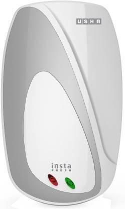 USHA 3 L Instant Water Geyser (Instafresh 3000-Watt, White, Silver)