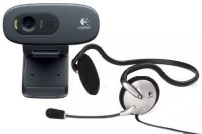 Logitech C270h HD Webcam(with headphone)