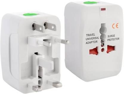 Evana Universal Pocket Travel Charger Multi-Plug, AU/EU/UK/US/CN Worldwide Adaptor