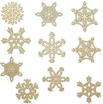 Incredible Gifts SnowflakesSetof10pcs Hanging Snow Flake Pack of 10