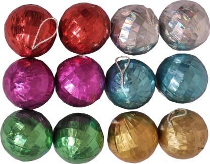 Indigo Creatives Christmas Xmas Ball (small) - Pack Of 12 Ornamental Bells Pack of 12