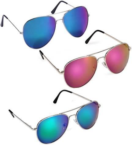 514563d4111f2 Buy Revlon Aviator Sunglasses Blue For Men Online   Best Prices in ...