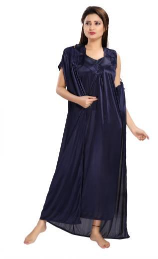 865ff84ac Miavii Women Nighty - Buy Turquoise Blue Miavii Women Nighty Online ...