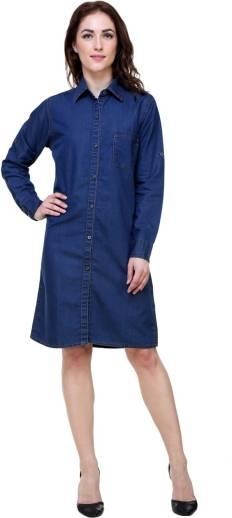411f49c34f2 SKM Women A-line Blue Dress - Buy SKM Women A-line Blue Dress Online ...