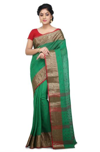 5259bd6677317 Buy WoodenTant Woven Tant Cotton Blue Sarees Online   Best Price In ...