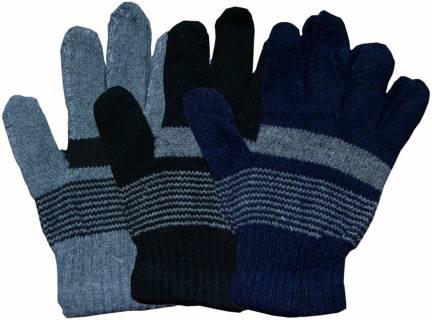 Striped Winter Men   Women Gloves