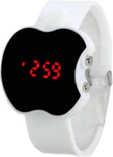 238 Sport Apple Shape Yellow Color Digital Kid Digital Watch   For Boys   Girls