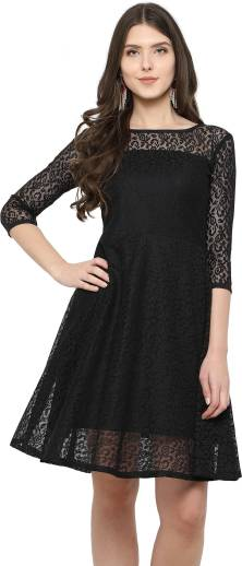 e99e75686d GSB Enterprise Women s Skater Black Dress - Buy GSB Enterprise ...