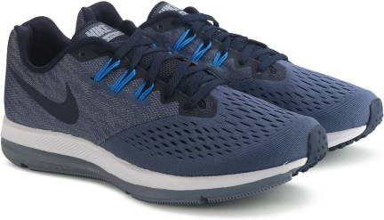 newest eba68 6211f Nike ZOOM WINFLO 4 Running Shoes For Men - Buy BLACK ...