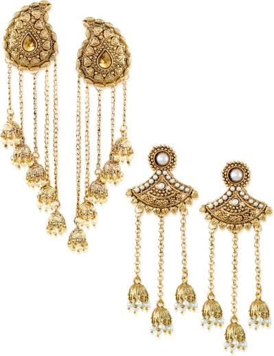 ad1e2e621f3 Flipkart.com - Buy Zaveri Pearls Tassels With Dome-Shaped Jhumki ...