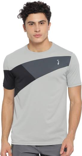 1456053448 Campus Sutra Color block Men V-neck Grey T-Shirt - Buy Campus Sutra ...