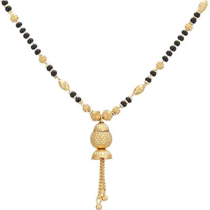 0f01c2c280 Zeneme Women's Pride Peacock Design Mangalsutra Combo with Chain for ...