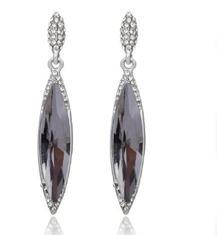 Glitz New Arrvial Sparkling PartyWear Geometric Champagne Gold Drop Earrings