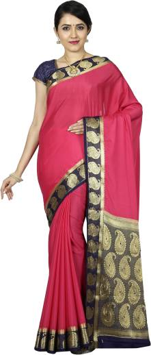 e5bbdb77c1 Buy Rightshape Embellished Mysore Crepe, Silk Mustard Sarees Online ...