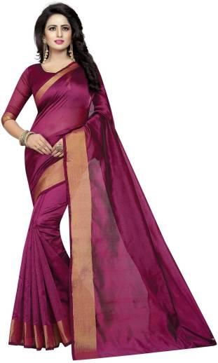 Lady Shopi Printed Fashion Cotton Silk Saree