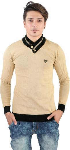 a1167f26b101 IGS Mart Self Design V-neck Casual Men Multicolor Sweater