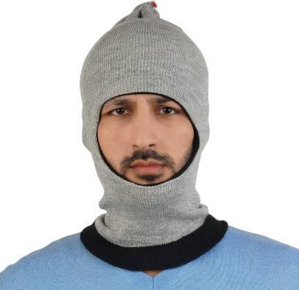 13882955bdc Softoe Solid Monkey Cap - Buy Grey Softoe Solid Monkey Cap Online at ...