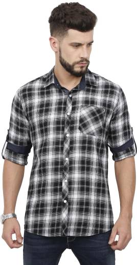 a5879ff29e9d Rope Men s Checkered Casual Red Shirt - Buy Rope Men s Checkered ...