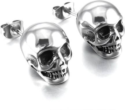 433db7850 Flipkart.com - Buy Divastri Monster Skull Single Stud Stainless ...