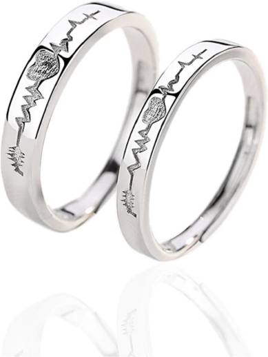 75a8145e61 UC Jewellery. Couple Ring Metal Silver Plated Ring Set. ₹287. ₹799. 64%  off. BlueShine.