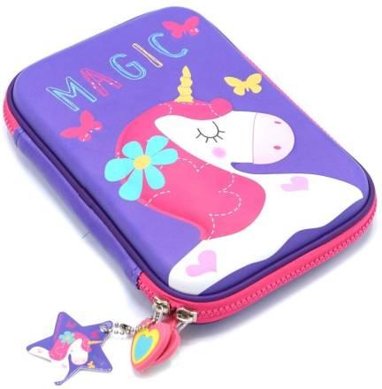 1f486d0c73bc VIHAAN Hardtop EVA pencil case/ Purple Pouch purple - Price in India ...