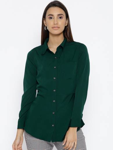 Women Solid Formal Shirt