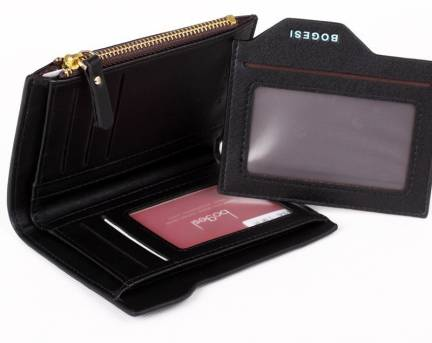 Bogesi Men Casual Black Artificial Leather Wallet