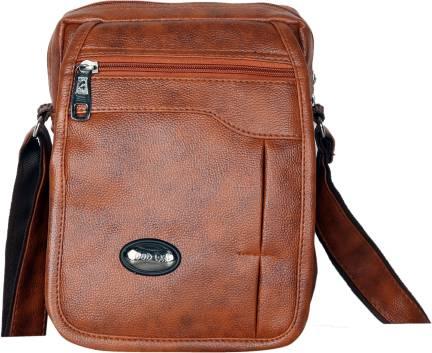 53416a3be458 Buckaroo Men Casual Tan PU Sling Bag Tan - Price in India