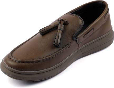 06f318da652bf Mr.SHOES FC757 BROWN MENS MOCCASINS LEATHER LOOK DRIVING LOAFERS ...