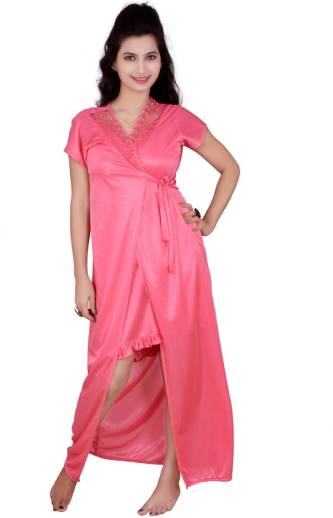 ff4e994464 ShopyBucket Women Nighty with Robe - Buy ShopyBucket Women Nighty ...