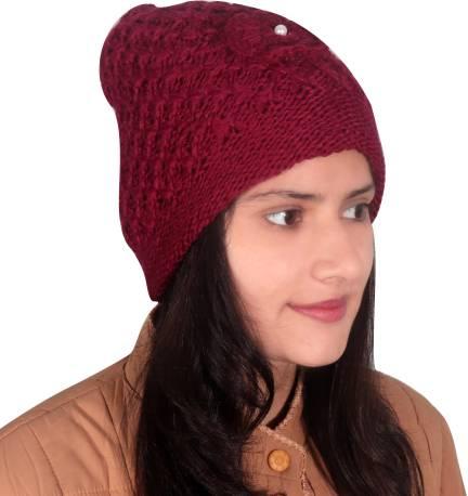 Glasgow TAB91 Women s Designer Woollen Cap Cap - Buy Glasgow TAB91 Women s  Designer Woollen Cap Cap Online at Best Prices in India  4ad0507e8d
