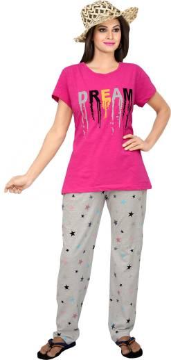 3aca1ee97e TUCUTE Women Printed Pink Night Suit Set Price in India - Buy TUCUTE ...