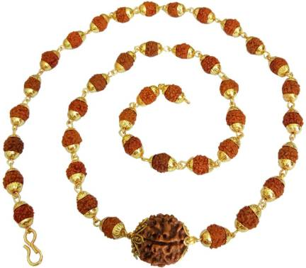 Rich & Famous 6 Mukhi Rudraksha Pendant For Men/Women Gold