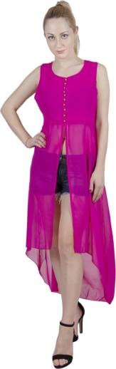 G   M Collections Women Solid Frontslit Kurta