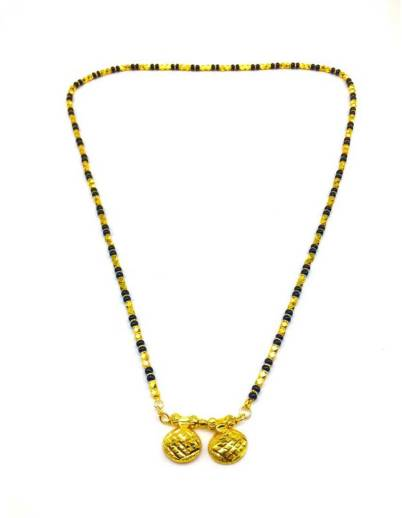 2471ad4498a13 Digital Dress Room Women's Alloy Single Line Mangalsutra with Black ...