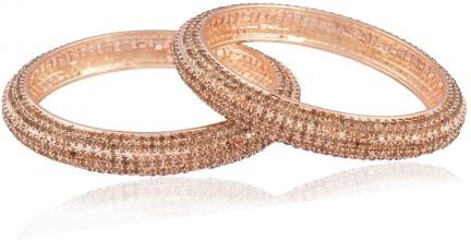 I J ewels Traditional Silver Plated Bangles for Women ADB153
