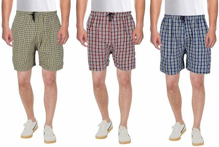 KGD Exports Checkered Men Multicolor Sports Shorts