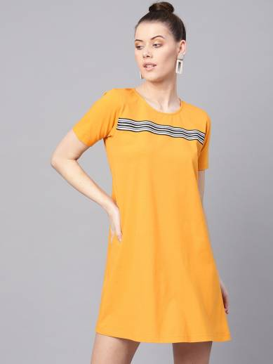 Sassafras Women Shift Yellow Dress